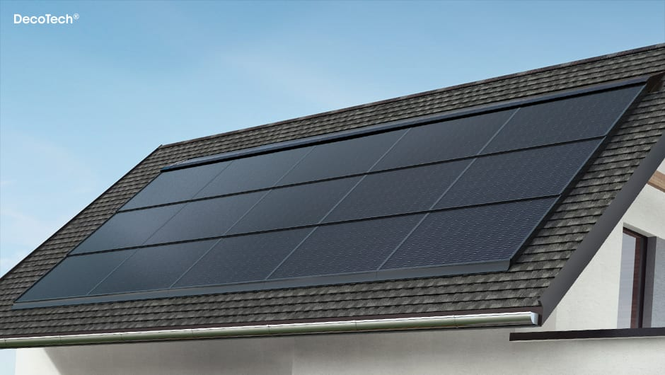 Solar Panel Roof Shingles >> Gaf Decotech Residential Solar Roofing