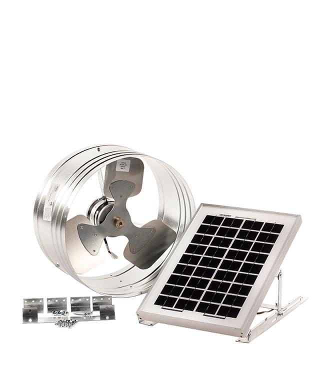Gaf Master Flow 174 Solar Powered Gable Vent Pgsolar1